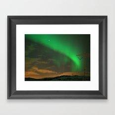 Northern Lights over Norway: Part 2 Framed Art Print