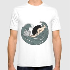 Sail to sea Mens Fitted Tee White MEDIUM