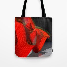 Waved red surface Tote Bag