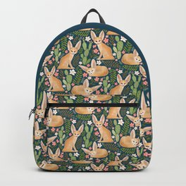 Fantastic Fennec Foxes on Navy Backpack