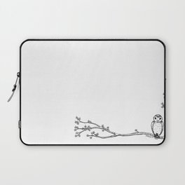 Owl and Blossom Laptop Sleeve