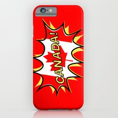 Canadian Flag Comic Style Starburst iPhone 6s Slim Case