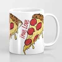 pizza Mugs featuring Pizza by jeff'walker