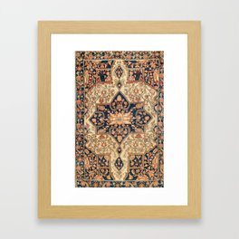 Ferahan  Antique West Persian Rug Print Framed Art Print
