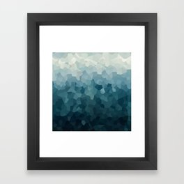 Ice Blue Mountains Moon Love Framed Art Print