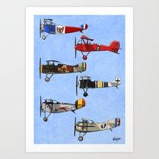Warriors of the Sky Art Print