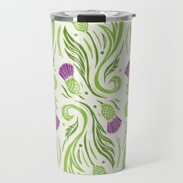 Thistles - Color Pattern Travel Mug