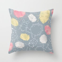 Water Bugs Throw Pillow