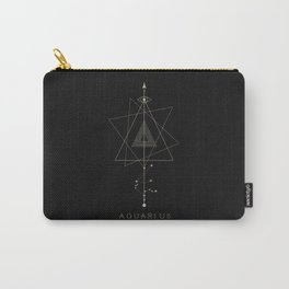 Aquarius Zodiac Constellation Carry-All Pouch