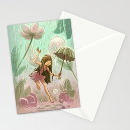 Goblins Drool, Fairies Rule! - Dewdrop Shower Stationery Cards