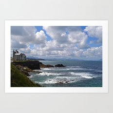 House on a Cliff in Southern France Art Print