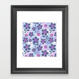 flowers mix Framed Art Print