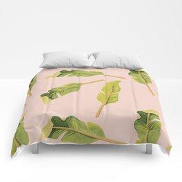 Tropical '17 - Solar [Banana Leaves] Comforters
