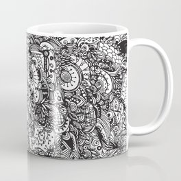 Detailed rectangle, black and white Coffee Mug