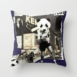 Panda Attack Throw Pillow