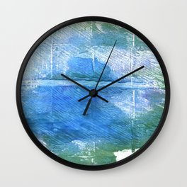 Wintergreen Dream abstract watercolor Wall Clock