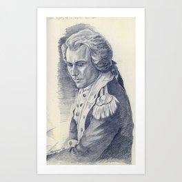 Lt. Colonel Hamilton Art Print