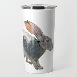 Hare Double Exposure Travel Mug