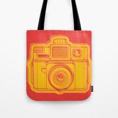 I Still Shoot Film Holga Logo - Reversed Yellow & Red Tote Bag