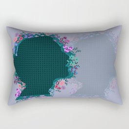 Moño de Flores Rectangular Pillow