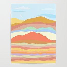 warm terrain Poster