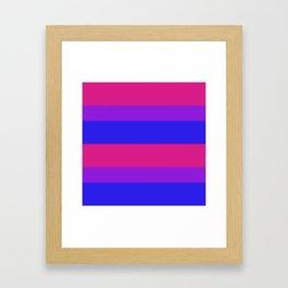 Bisexual Pride Flag v2 Framed Art Print