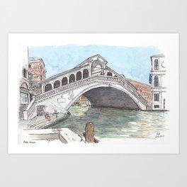 Rialto, Venice Art Print