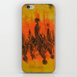 Abstract People Sunset iPhone Skin