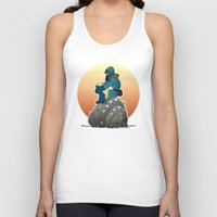nausicaa Tank Tops featuring Nausicaa & baby Ohmu taking a break... by kamonkey