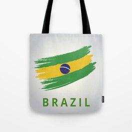 Abstract Brazil Flag Design Tote Bag