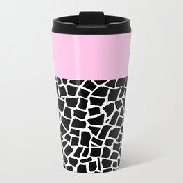 British Mosaic with Pink Boarder Metal Travel Mug