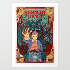 Strange Things lately Art Print