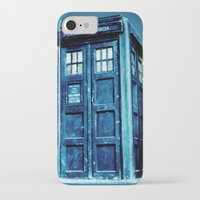 tardis iPhone & iPod Cases featuring TARDIS by Hands in the Sky