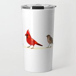 Little birds. Spring. Travel Mug