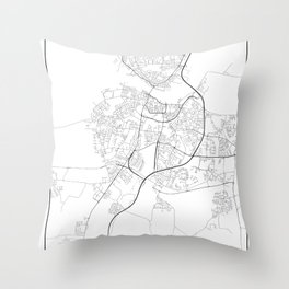 Minimal City Maps - Map Of Aalborg, Denmark. Throw Pillow