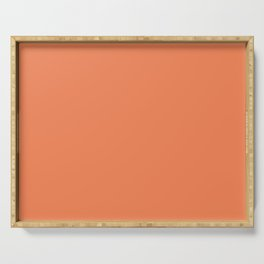 Flare ~ Tangerine Sherbet Coordinating Solid Serving Tray