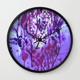 Violet Humming XV Wall Clock