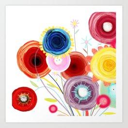 Paris Wedding Bouquet Peony Floral Desing Art Print