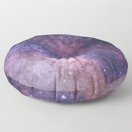 Purple Galaxy Star Travel Floor Pillow