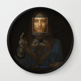 Salvator Mundi _tag Wall Clock