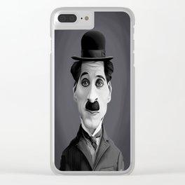 Charlie Chaplin Clear iPhone Case