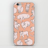 picasso iPhone & iPod Skins featuring Picasso Cats by leah reena goren