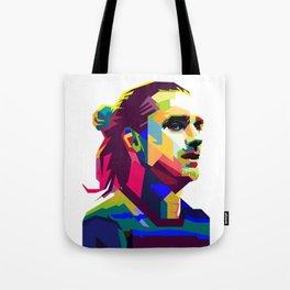 Griezmann Soccer Pop Art Portrait Tote Bag