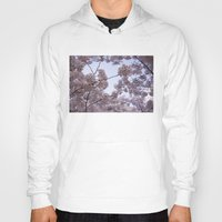 cherry blossoms Hoodies featuring Cherry Blossoms by Colesart