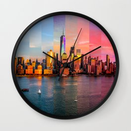 New York City Time Stitch Wall Clock