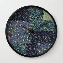 Faux Country Quilt Wall Clock