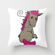 Punk Ass Throw Pillow