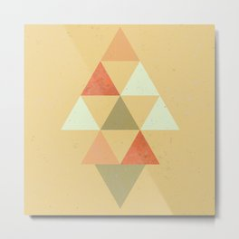 Being Mindful, Geometric Triangles Metal Print