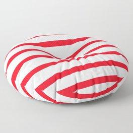 Red Lines Floor Pillow