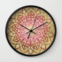 Desert Mandala Wall Clock